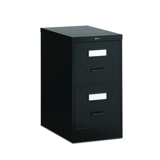 2 Drawer Black Vertical File (Legal)