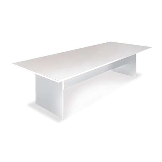8′ Conference Table - White