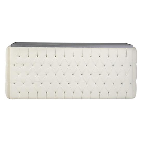 6′ Crystal Bar Surround - White