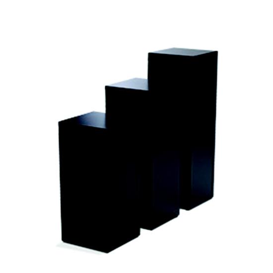 Display Pedestal 42″ Black 18″ Sq.