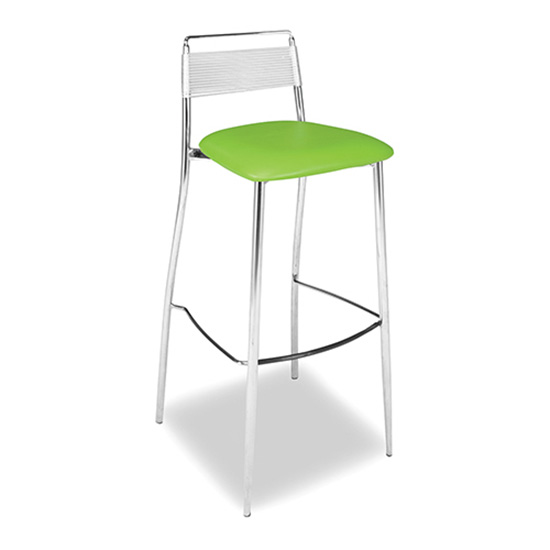 Silk Back Bar Stool - Green